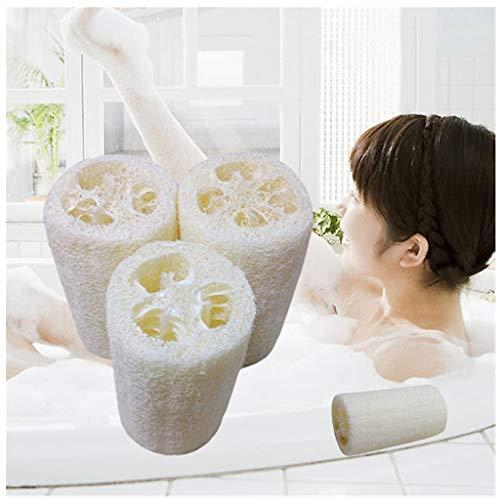 SO-buts Neue natürliche Luffa Bad Körper Duschschwamm Wäscher Auflage Heißes, Peeling, das Luffa 3 Zoll Peeling für Körperpeeling bürstendusche badet (Weiß) -