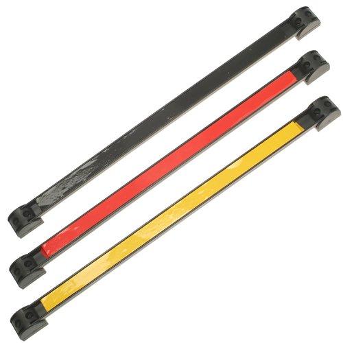 3 x Extra Starke MAGNETLEISTE Magnetschiene Werkzeugschiene Messerschiene (hohe Haftkraft) mit Halter GELB ROT SCHWARZ 460 mm