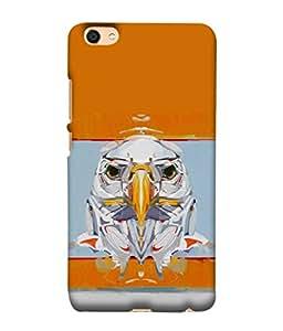 FUSON Designer Back Case Cover for Vivo Y55L :: Vivo Y55 (Stearing Eyes Deadly Look Canvas Vision Bird Sky High)