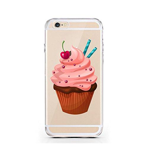 "licaso® iPhone 6 6S 4,7"" TPU Hülle Sketch Case transparent klare Schutzhülle Hülle iphone6 Tasche Cover (iPhone 6 6S 4,7"", Burger) Cupcake"