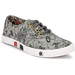 BADLAV Men's Men Multicolor Casual Sneakers (Grey) (9)