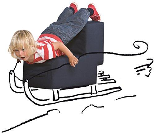 Lümmel - das Spielmöbel für Kinder in blau - der perfekte Sessel, Polsterhocker oder Sitzhocker für die Spielecke