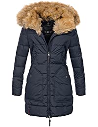Marikoo Designer Damen Winter Jacke Parka Mantel Teddyfell warm gefüttert  B616 60176b17bc