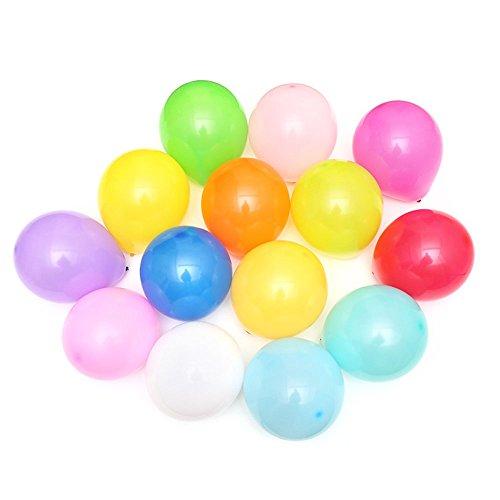Ecloud Shop 100 colorido festival de globos de pera de cumpleaños para celebrar 10 pulgadas