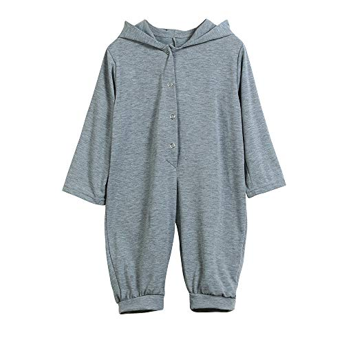 Baby Junge Kleidung Outfit, Honestyi Neugeborenes Baby Jungen Mädchen Dinosaur Hooded Strampler Overall Outfits Kleidung Baby Dinosaurier Set (Grün,60)