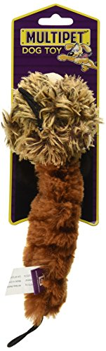 """MULTIPET Bouncy Burrow Buddies Babies Squirrel Small Dog Toy, 8"""" 2"""