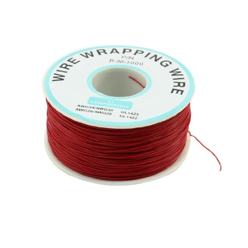 Jig Jtag (sourcingmap® 200 m isolierte verzinnt Kupferdraht Isolierung Geschenkpapier Rolle, Rot)