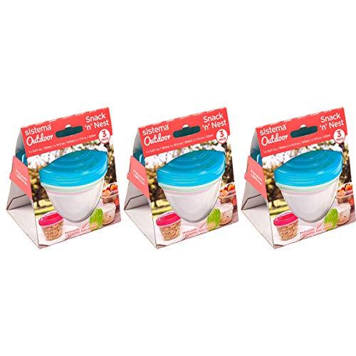 Sistema Joghurt to go Runde Dosen, Pack of 9