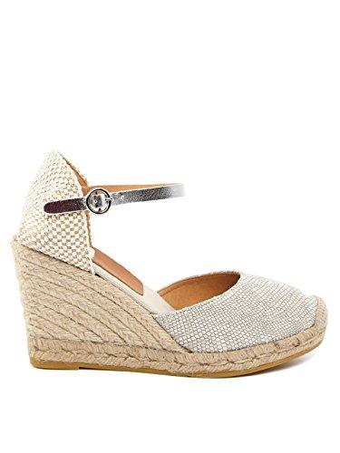 KANNA Damen Sandaletten Hellgrau