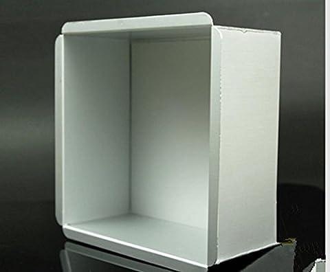 Kuchenform Werkzeuge 6/8-Zoll-Aluminium-Legierung quadratische Unterseite quadratische Würfel 250 ° c Backen , 8 inch square anode bottom die