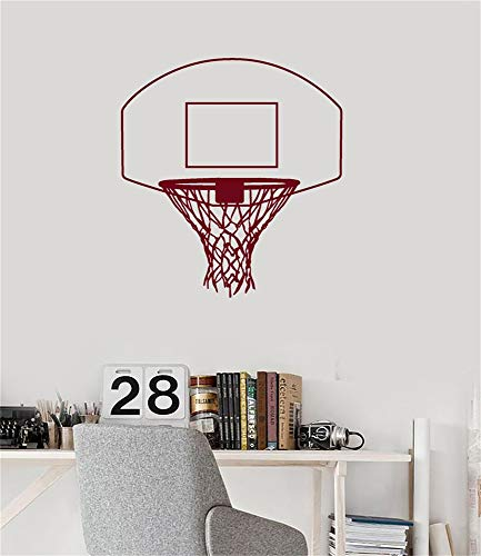 wandaufkleber glitzer Basketballkorb Basket Net Sporthalle