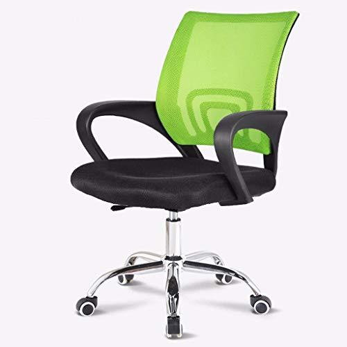 Butterfly-tische-stühle (xy Schreibtischstuhl Office Essentials Grid Back drehbarer Tisch und Stuhl, Drehmomentsteuerung, Grün + Schwarz bürostuhl (Color : Green))