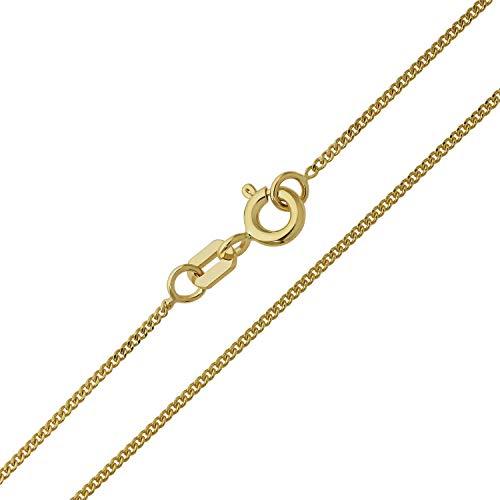 Damen Halskette 14 Karat (585) Gelbgold Panzerkette Gold Breite 1,10mm Länge 36cm 38cm 40cm 42cm 45cm 50cm 55cm 60cm Goldkette (38 Zentimeter)