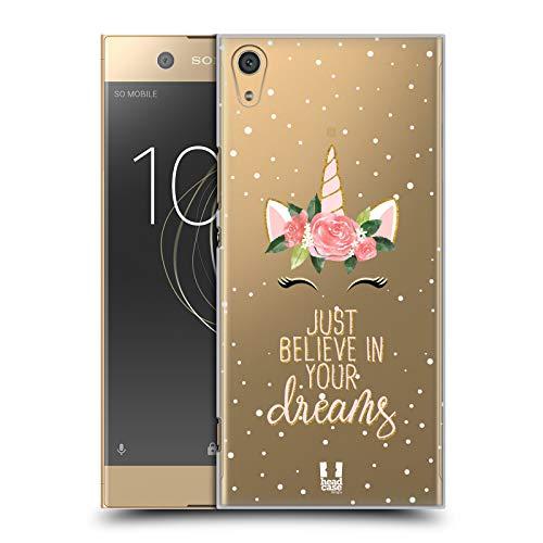 Head Case Designs Träume Einhorn-Blumen Ruckseite Hülle für Sony Xperia XA1 Ultra/Dual