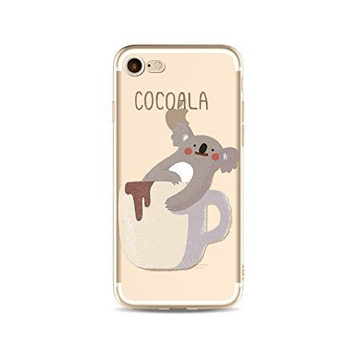 Schutzhülle iPhone 7Schutzhülle étui-case transparent Liquid Crystal TPU Silikon klar, Schutz Ultra Slim Premium, Schutzhülle Prime für Iphone 7-koala 2