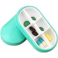 Reise Pillendose Pillenbox Tablettendose Organizer Halter Case 6 Fächer Lagerung (Blau) preisvergleich bei billige-tabletten.eu