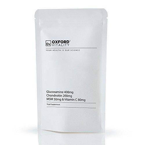 Oxford Vitality - Gelenkunterstützung Extra: Glucosamin 400mg Chrondroitin 200 mg MSM 50 mg und 80 mg Vitamin C-Tabletten -