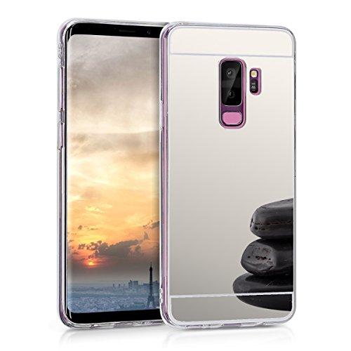 kwmobile Samsung Galaxy S9 Plus Hülle - Handyhülle für Samsung Galaxy S9 Plus - Handy Case in Silber spiegelnd