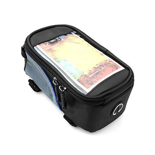 """System-S spritzwassergeschützte Rahmentasche Case Cover Tasche (Innenmaße ca. 7 cm x 7,5 cm x 17 cm) mit Extratasche für 5,3\"""" Zoll (inch) Smartphones Phablets"""
