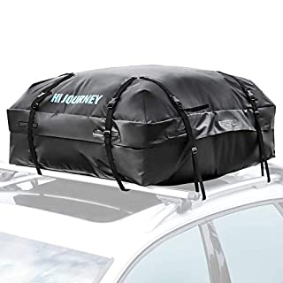 Rabbitgoo Roof Box Rooftop Cargo Bag Storage Waterproof Roof Rack Box for Cars, Vans and SUVs - Great for Travel or Off-Roading - 15 Cubic Feet (425 Litres) of Capacity - Black
