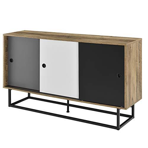 en casa mobile tv 140 x 35 x 80 cm comodino con porte