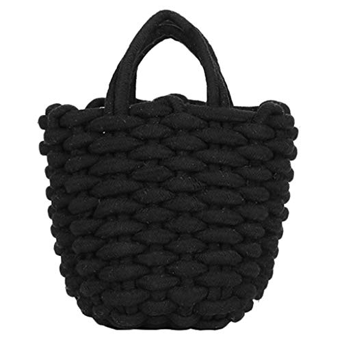 Mitlfuny handbemalte Ledertasche, Schultertasche, Geschenk, Handgefertigte Tasche,Mode Frauen Weben offen einfarbig Handtasche Umhängetasche Einkaufstasche