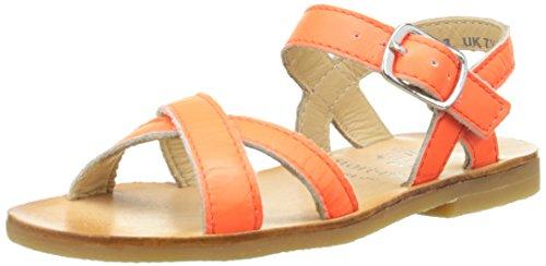Start Rite Nice Ii, Sandales Fille Orange (Neon Orange)