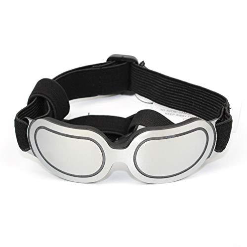 MRXUE PET Sonnenbrille, Kätzchen Große Gläser Mode UV-Schutzbrille Freie Größe Schwamm Komfort Schutz Foto-Requisiten,Silver