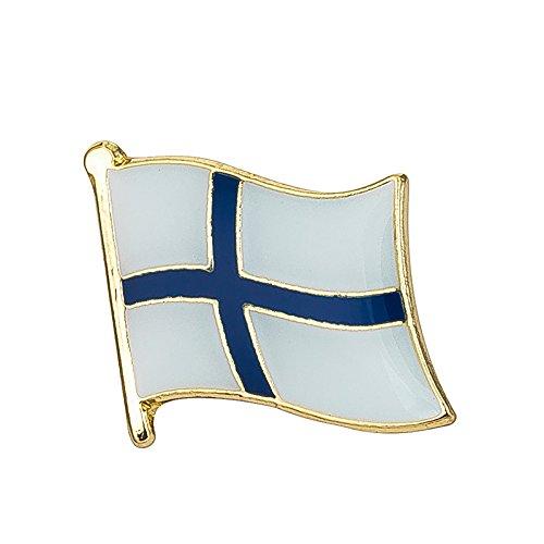 Pin de metal con la bandera de Finlandia