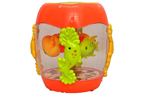 Toyshine Musical Fish Aquarium Drum Toy with 3D lights, Music, and Learning Activities