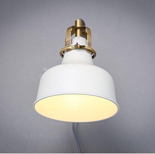 American Country Style Loft Industrial Style Wandleuchte Schlichte weiße Rocker Retro Wohnzimmer Schlafzimmer Wand Lampe Nachttischlampe (Der Weiße Country-rocker)