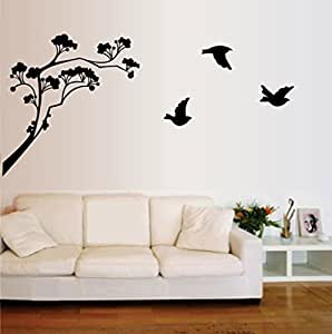 Decals Design 'Lollipop Tree' Wall Sticker (PVC Vinyl, 60 cm x 45 cm, Black)