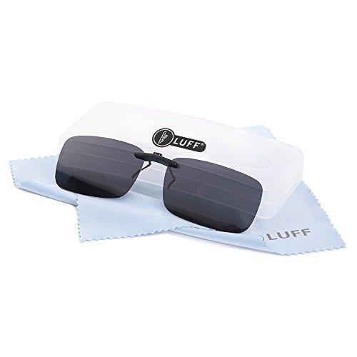 Polarisierte Unisex-Clip auf Sonnenbrille für verschreibungspflichtige Brillen-gute Clip-Stil Sonnenbrille für Myopie Brille im Freien / Fahren / Angeln (Black)