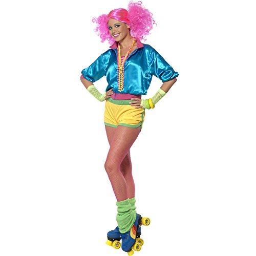 Neon mit Oberteil Shorts und Bustier, Medium (Heißes Kostüm Ideen)