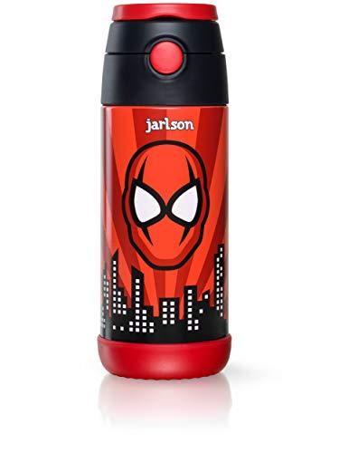 Jarlson Botella Agua sin bpa niños | Botellas Agua Acero Inoxidable -...