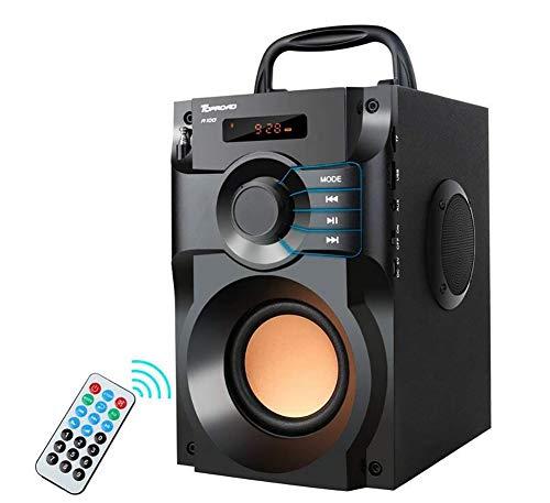 Tragbares Bluetooth Lautsprecher Wireless Stereo Bass Subwoofer mit FM-Radio Fernbedienung TF-Karten-LCD Anzeige für Hausparty Telefon Computer PC - Sdhc 2.5 Lcd Usb