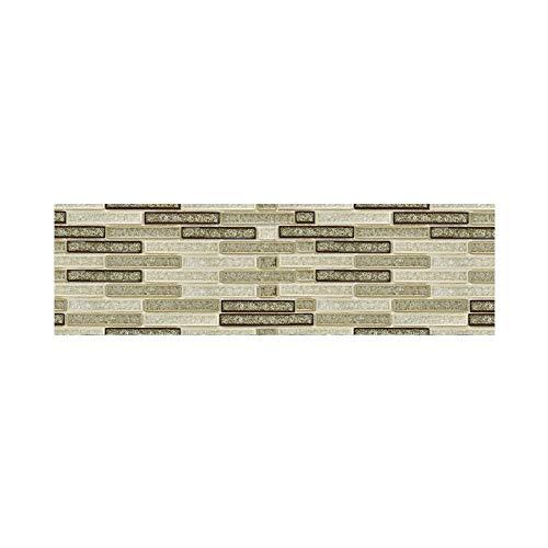 Odjoy-fan 20x500cm adhesive tile art metope wandtattoo aufkleber diy küche badezimmer dekor-simulations-mosaik-wandaufkleber-4d wall paper brick selbstklebende room decor mosaik- wandbild decals
