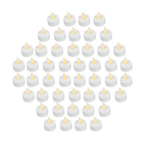 Bargain Outlet (paquete de 48) velas de té con luz LED...