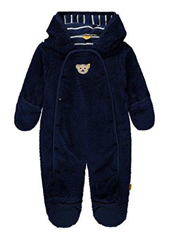 Steiff Baby-Jungen Overall 1/1 Arm Plüsch Schneeanzug, Blau (Medieval Blue 3062), 56