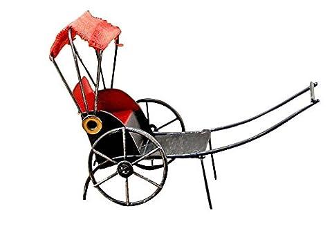 Rétro Décoration Creative Mini Living Room Decor Tricycle [Rouge]