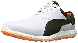 PUMA Men s Ignite Spikeless Golf Shoe Puma White/Forest Ni 9 D(M) US