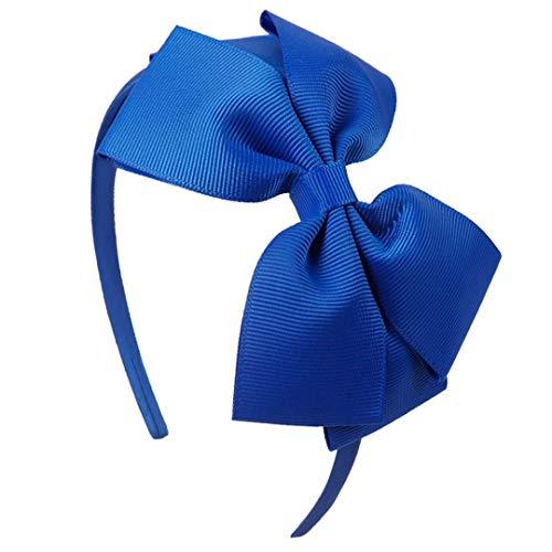 TOUSHIUHUS Mädchen Mode 4,5 Zoll Stirnband Band 20 Farben bedeckt Haarband mit Boutique Grosgrain Ribbon Bow Haarbänder 18 Ribbon Bow Stirnband