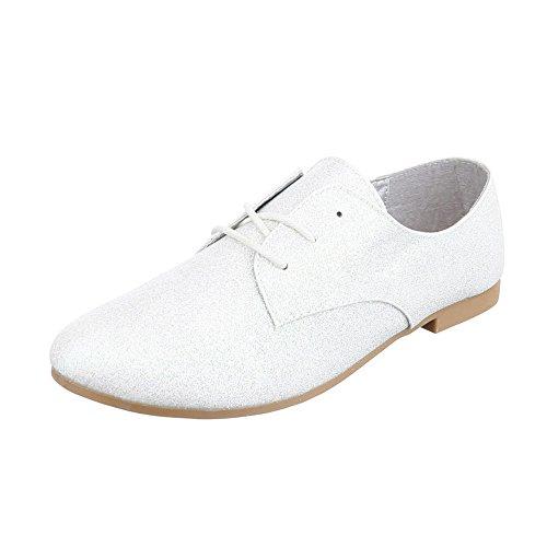 Ital-Design , Chaussures à lacets femme Silber HS21