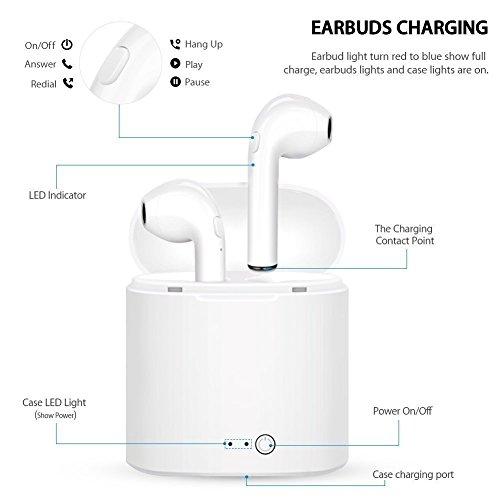 Amzuun-Cuffie-Bluetooth-Auricolare-Bluetooth-Wireless-Bluetooth-TWS-Cuffie-Senza-Fili-con-Microfono-Stereo-Scatola-Di-Ricarica-Per-iPhoneiPad-SamsungXiaomi-HuaweiLG