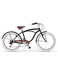 MBM Honolulu - Bicicleta para hombre, color negro de 47 cm