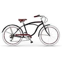 MBM Honolulu Bicicletta, Uomo, Nero, 47Cm
