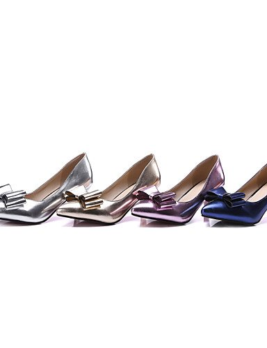 WSS 2016 Chaussures Femme-Bureau & Travail / Habillé / Soirée & Evénement-Bleu / Rose / Argent / Or-Kitten Heel-Talons / Escarpin Basique / Bout blue-us9 / eu40 / uk7 / cn41