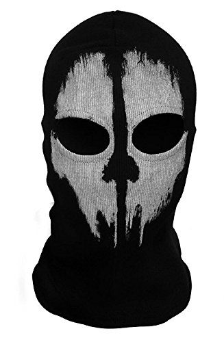 (GADA hochwertige Stoff Airsoft Paintball Snowboard Motorrad Ski Schutzmaske Totenkopf Schädel Maske Mütze (zwei Gesichtshälften))