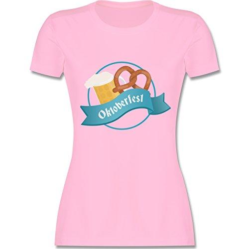 Oktoberfest Damen - Oktoberfest - tailliertes Premium T-Shirt mit Rundhalsausschnitt für Damen Rosa