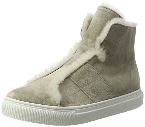 Kennel und Schmenger Damen Basket Hohe Sneaker Grau (Elefant/Nature Sohle Weiss)